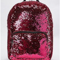 Silver and Pink Magic Sequin Backpack - Spencer's