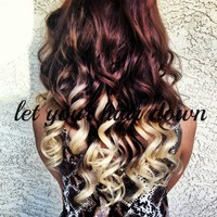Clip in, 100% Human Hair Ombre Extension Set