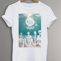 Hot 5 Seconds Of Summer Shirt NEW 5SOS Shirt T-shirt Men Women White RF-35