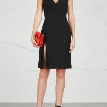 Brandon Maxwell Black plunge-front dress