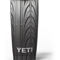 Shiny Black Tire Tread Yeti Rambler Skin Kit