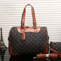 LV Women Leather Luggage Travel Bag Tote Handbag H-MYJSY-BB
