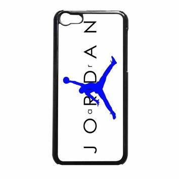 Jordan Blue Logo White Background iPhone 5c Case