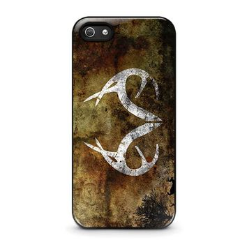 realtree deer camo iphone 5 5s se case cover  number 1