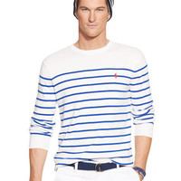 Polo Ralph Lauren Striped Pima Crewneck Sweater