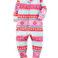 1-Piece Fleece PJs