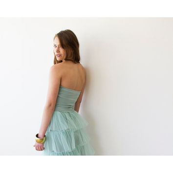 Ballerina Strapless Mint Stretchy top  2007