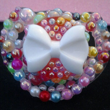 Bling Baby Pacifier by PinkKittyCases on Etsy