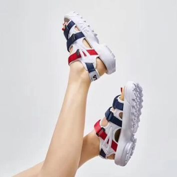 qiyif FILA Disruptor Sandal 'Navy/Red/White'