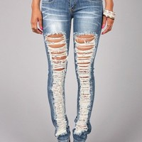 Rip Road Skinnys | Skinny Denim at Pink Ice