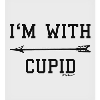 """I'm With Cupid - Left Arrow 9 x 10.5"""" Rectangular Static Wall Cling by TooLoud"""
