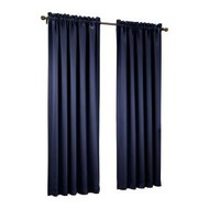 Sun Zero, Navy Gregory Room Darkening Pole Top Curtain Panel, 54 in. W x 63 in. L, 43180 at The Home Depot - Mobile