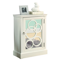 White / Mirror Contemporary Bombay Chest