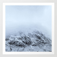 Letting go - cold comfort in Glencoe Art Print by anipani