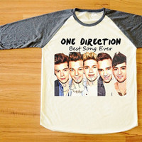 One Direction T-Shirt Best Song Ever Shirt 1D T-Shirt Raglan Shirt Long Sleeve Tee Shirt Women T-Shirt Men T-Shirt Baseball Tee Shirt S,M,L