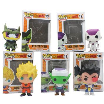 Funko POP Mini Dragon Ball Anime Son Goku Piccolo Frieza Shahrukh Vegeta Vinyl PVC Collection Action Figure Model PVC Kids Toys