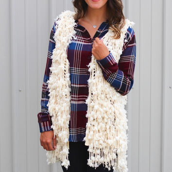 Shaggy Fur Vest {Natural}