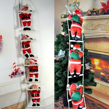 Christmas Christmas Pendant Ladder Christmas Santa Claus Doll Tree New Year Decorations Drop Ornaments