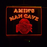 Ohio State Personalized Sign, Color changing LED lights By Unique LED Products