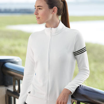 Ladies' ClimaLite® 3-Stripes French Terry Full-Zip Jacket - Adidas