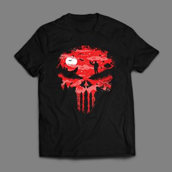RED FOREST PUNISHER  LOGO T-SHIRT