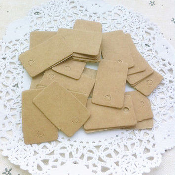Kraft Paper Wedding Party Gift Card Rectangle Label Blank Luggage Tags