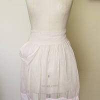 Vintage Pink Organza Apron For Entertaining