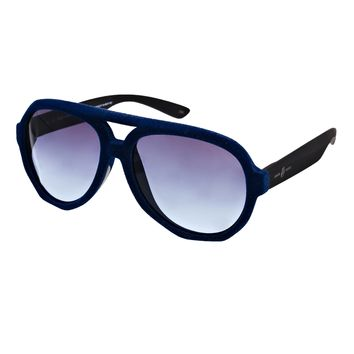 Karl Largerfeld and Italia Independent Velvet Aviators - Navy blue and