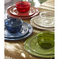 Rope Melamine Outdoor Dinnerware, Set of 4 | Pottery Barn