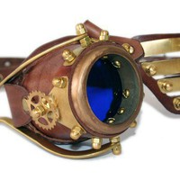STEAMPUNK MONO GOGGLE and eyepatch  made from solid by ErihMann