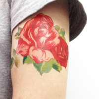 Rose,  Floral, Temporary tattoo T267