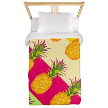 Twin Duvet Cover - Tropical Pineapples - Ornaart Design