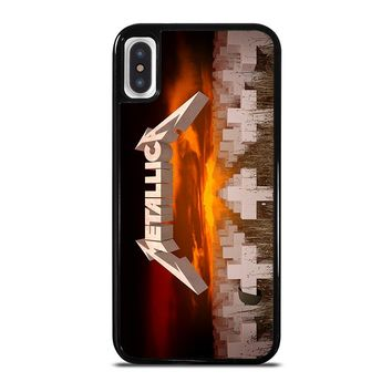 METALLICA MASTER OF PUPPETS iPhone X Case Cover