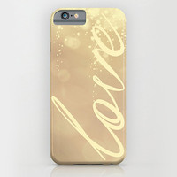 Samsung Galaxy S5 Galaxy S4 iPhone 6 iPhone 6 Plus iPhone 5 iphone 5s iphone 5c iphone 4 iphone 4s Phone Case. Gold Glitter LOVE Phone Case