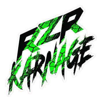 RZR Karnage Tire Tread Laminated Sticker 3 Colors Blue, Green, Red