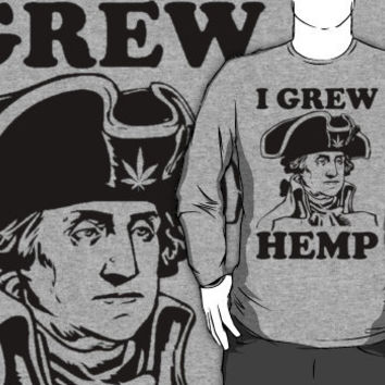 george washington grew hemp crew neck
