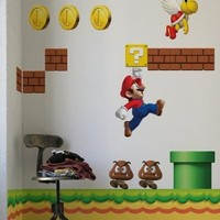 New Super Mario Brothers Wall Stickers