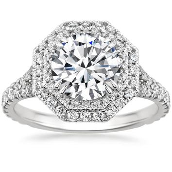 18K White Gold Roslin Diamond Ring (3/4 ct. tw.)