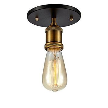 Edison Vintage Cieling Light - Bulb Included, Antique Brass