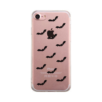 Bat Pattern Halloween Phone Case Cute Clear Phonecase
