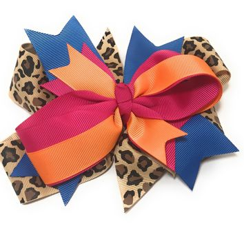 Girls Large And Round Boutique Hair Bow