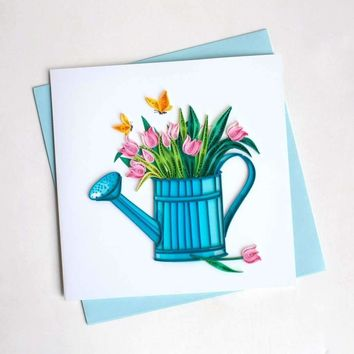 The Happy Gardener Quilled Cards, Set of 6
