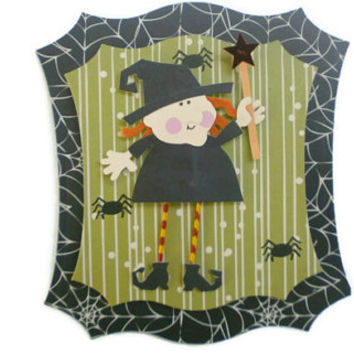 Halloween, Witch, Scrapbook Embellishment, paper piecing, scrapbooking page, album, brag book, tag, journal
