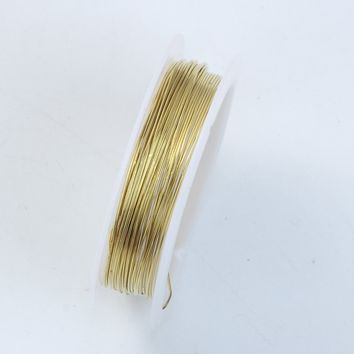 WG-101-23G Gold Color Wire 23 Gauge,Thickness 0.6MM