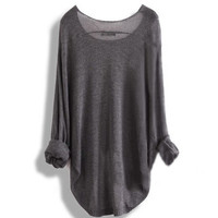 Long-sleeved knit shirt blouse hollow from Fashionable
