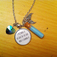Castiel - Glow in the Dark Angel Grace - Quote - Necklace