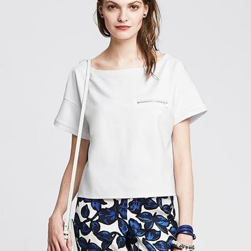 Zip Pocket Cropped Top