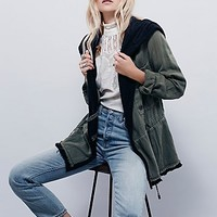 Free People Womens Soft Peplum Jacket