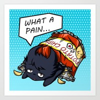 What A Pain Art Print by HelloTwinsies