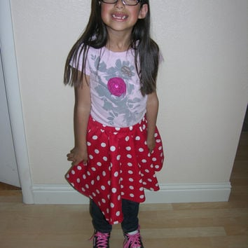 Polka Dot Circle Skirt/ flared skirt/ Minnie Mouse inspired